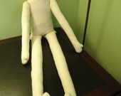 "HuGe! Primitive Muslin Doll Body form 40-45"" tall"