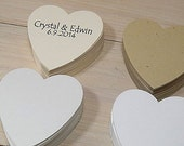 Heart Die Cuts (10) Eco-friendly - Thick 400g Cardstock