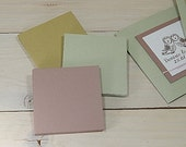 10 x Card Mounts 8x8cm Using Natural Raw Material By-Products 3 Colour Choices