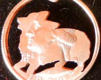 Pembroke Corgi Dog Hand Cut Coin Jewelry
