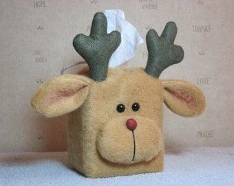 """Reindeer pattern:  """"Reindeer Tissue Box Cover"""" - #635"""