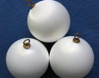 """2-1/2"""" White satin balls"""