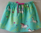 """SALE!!  4T Girl's Skirt featuring Wee Wander """"Summer Ride"""" by Sarah Jane  Ready To Ship (1/2 off  reg. price)"""