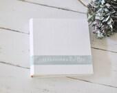 Custom Fabric Photo Book, a Personalized Family Photo Album - Velvet Sash design by ClaireMagnolia