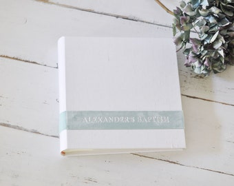Custom Fabric Photo Book, a Personalized Family Photo Album - Velvet Sash design by ClaireMagnolia