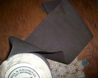 """1 yd. Wide silk vintage fine petersham/grosgrain in Chocolate Kiss 6 1/2"""""""