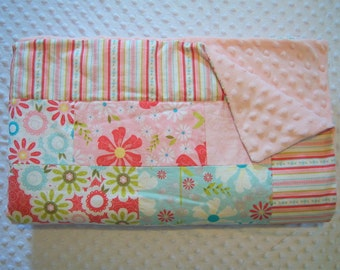 Custom Brick Style Toddler Quilt - You Choose the Fabrics