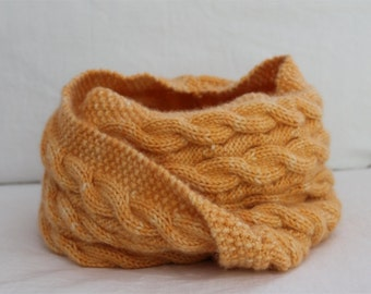 KNITTING PATTERN- Reversible Cable Cowl knitting pattern PDF Snood.  Infinity scarf