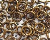 Jump Rings 100--20 Ga 3,5 mm Handmade Vintage Bronze-Kettenhemd