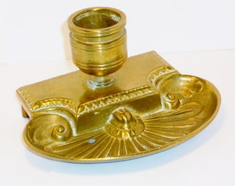 SALE Vintage Brass Ink Well, Home, Office