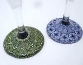 Fine art polymer clay wine glasses