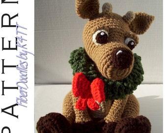 INSTANT DOWNLOAD : Regis the Baby Reindeer Crochet Pattern