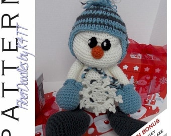 INSTANT DOWNLOAD : Tinsel the SnowKid Crochet Pattern