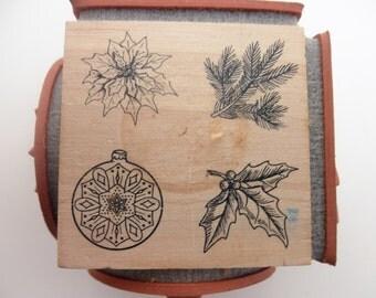 Rubber Stamp Cube - Judi Kins, Winter Botanical