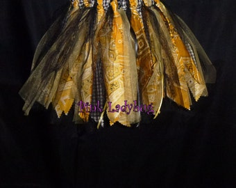 Scrap Rag Western Tutu - Yellow and Black is Ready to Ship