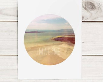 "Motivational 8""x10"" Modern Print - Imagine"