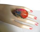 HUGE Vintage Lucite Ring Knuckle Ring - on sale