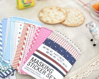 Masking Stickers Refill / Fabric - 27 sheets (2.6 x 3.9in)