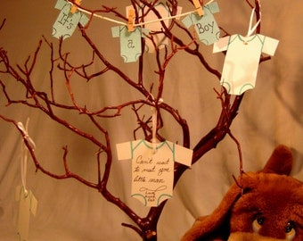 Hand Carved Manzanita Baby Wish Tree/Centerpiece