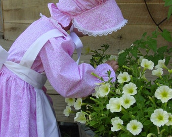 WeHaveCostumes Modest Quality Homemade Historical Costumes-Pink Pioneer- ADULT Size