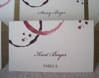 Wine Stained Escort Cards
