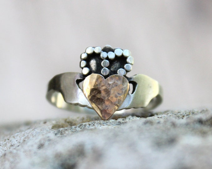 Handcrafted Modern Claddagh Ring