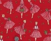 Retro Holiday Hostess I Spy Christmas 50's 60's Mid Century Modern Fabric By the Fat Quarter