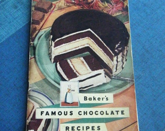 Price reduced ... 1936 Baker's Famous Chocolate Recipes book