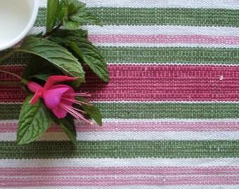 Vintage Swedish Handwovens: Vibrant Watermelon