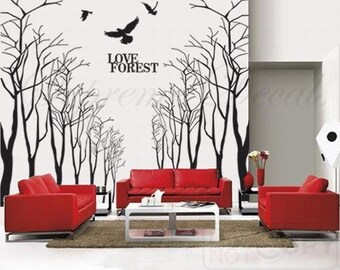 hot sale tree wall murals living room wall by