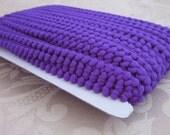 Purple Mini Pompom Trim