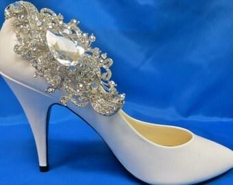 Bridal Shoe Clips, Set of 2, Wedding Shoes Accessory, Rhinestone Shoe Clip
