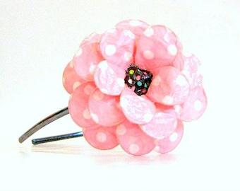Pink-N-Dottie Paper Mache Daisy Headband