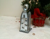 Stained Glass WHITE Praying Angel candle holder