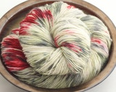 Hand Painted Superwash BFL Wool Sock Yarn- Zombie Apocalypse