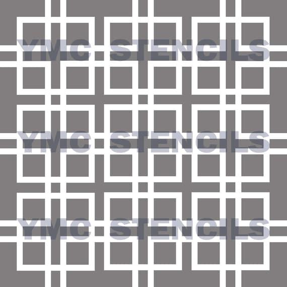Linked Squares Stencil - 10x10