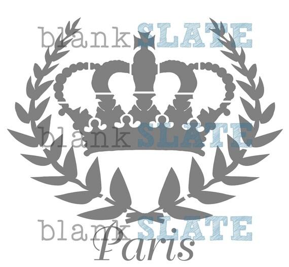Paris Crown Stencil - 8x8