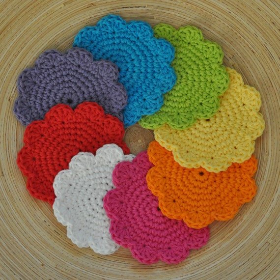 PDF Super Simple Cotton Coasters Crochet Pattern