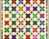 """FARMER'S DAUGHTER - 83"""" - Quilt Addicts Precut Quilt Kit or Finished Quilt Queen size"""
