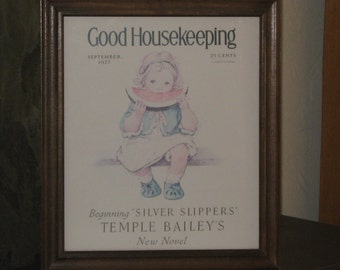 Vintage Good Housekeeping September 1927 Framed Print ~ Jessie Wilcox Smith
