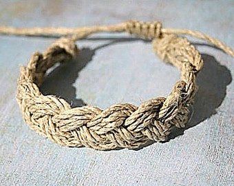Surfer Sailor Style Hemp Bracelet Mixed Colors