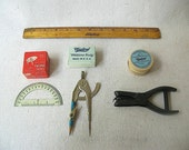 Vintage School Supplies, Vintage Classroom supplies, vintage office