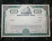 Vintage Stock Certificate 1971 Shulton, Inc