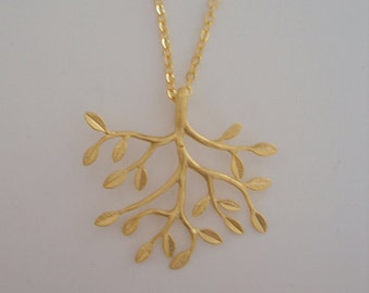 Tree Necklace - Gold