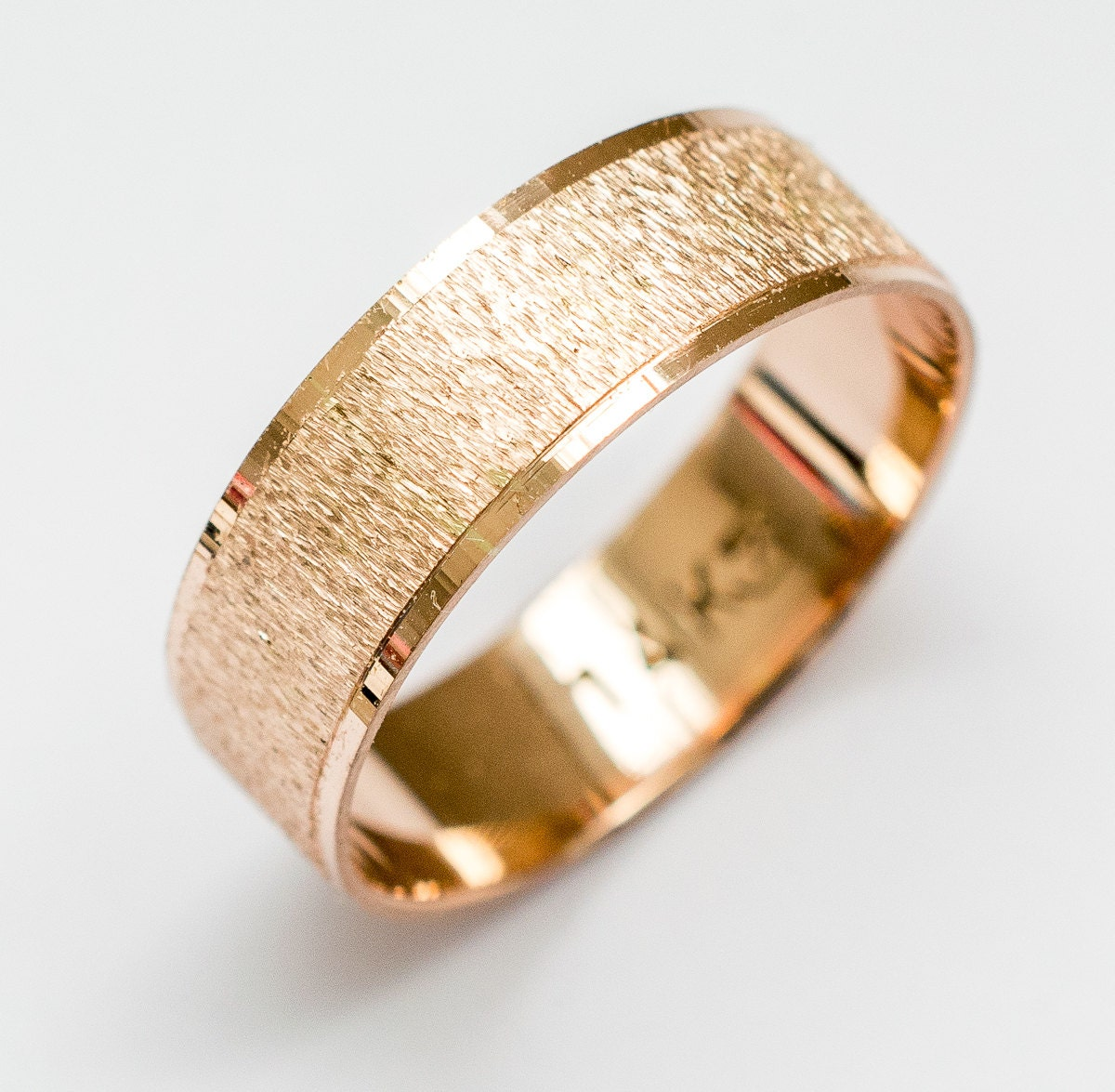 Rose gold Wedding Band women's and men's wedding ring by ...