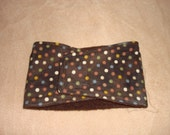 Dog Diaper - Male Dog Belly Band - Brown with Polka Dots - All Sizes Available