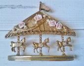 Carousel Brooch - Vintage 1928 Company Jewelry
