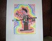 Artist Original Art By Thomas Buchanan Child Artist Pen & Ink Artwork - Thomas B Art
