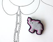 Sale - Elephant Brooch, Animal Brooch,  Felt Pin