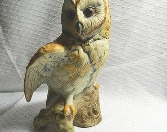 Owl Figurine - UCTCI Japan - Porcelain Owl Figurine